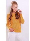 Стильный горчичный женский свитер