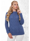 Эксклюзивный свитер в большом размере синего цвета