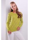 Стильный фисташковый женский свитер