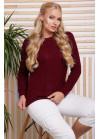 Эксклюзивный свитер в большом размере винного цвета