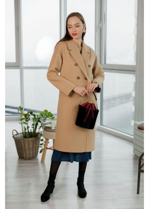 Базовое пальто цвета camel из роскошной итальянской шерсти
