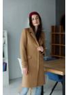 Базовое пальто светло-бежевого цвета из качественной итальянской шерсти