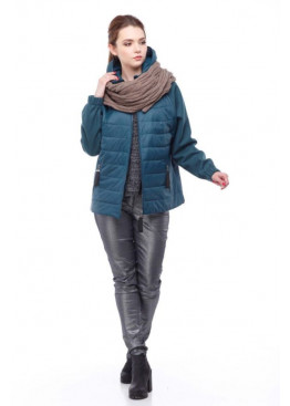 Комбинированная куртка-бомбер в стиле sport chic баскайский залив