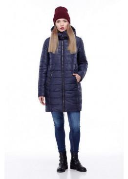 Зимняя куртка-кокон, амарант