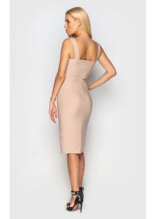 Летнее платье-футляр из мягкой костюмной ткани