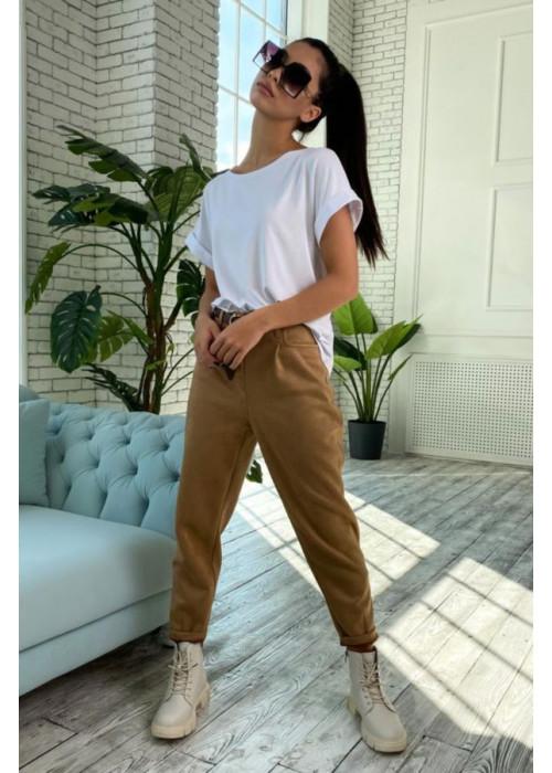 Базовая футболка свободного кроя с цельнокроенным рукавом, белая