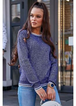 Элегантный демисезонный свитер с манжетами на рукавах и по низу изделия