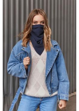 Шейный платок-маска двухсторонняя на резинках