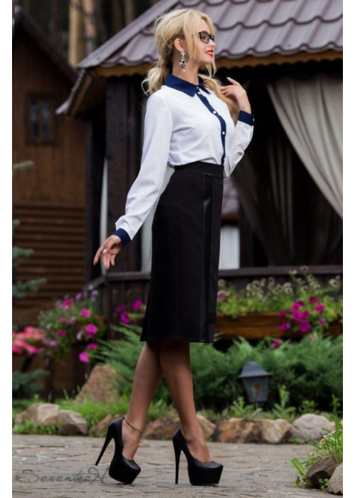 Классическая элегантная юбка миди