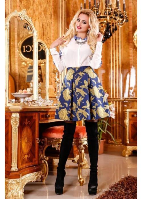 Яркая, нежная юбка со стильным орнаментом