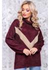 Оригинальный свитер цвета марсала из мягкой ангоры-травки