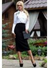 Стильная юбка-карандаш миди черного цвета