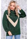 Оригинальный свитер зеленого цвета из мягкой ангоры-травки