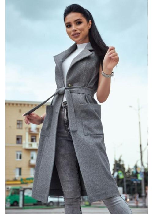 Пальто-жилет из нежного кашемира