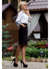 Эксклюзивная черная юбка классического строгого кроя