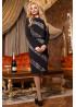 Изысканный комплект из платья и жакета черного цвета