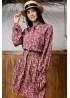 Романтичное и нежное платье мини свободного кроя  терракотового  цвета
