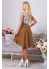 Ассиметричная юбка в потрясающем горчичном цвете