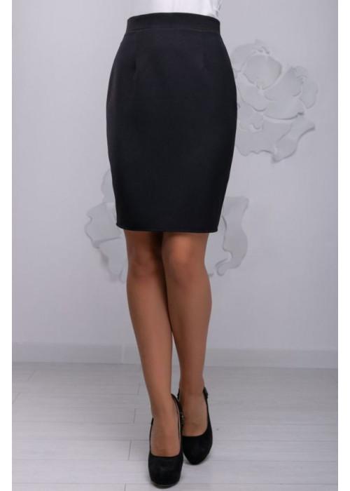 Элегантная черная юбка прямого фасона