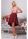 Ассиметричная юбка в потрясающем красном цвете