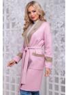 Кардиган розовый из плотной вязанной ангоры