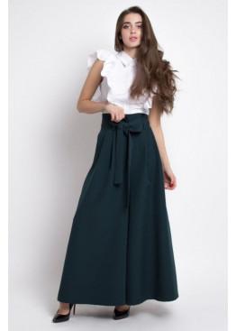 Шикарные брюки-палаццо PALERMO, темно-зеленые