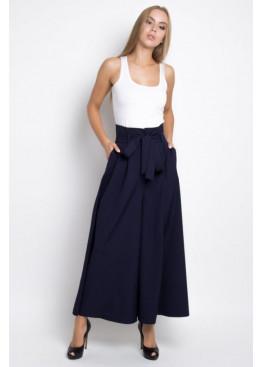 Шикарные брюки-палаццо PALERMO, темно-синие