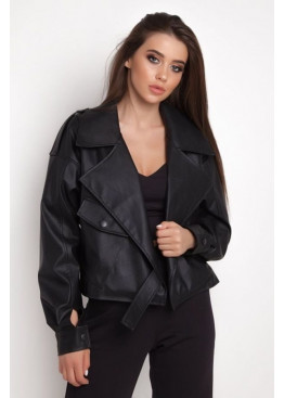 Короткая куртка-косуха HARD из экокожи