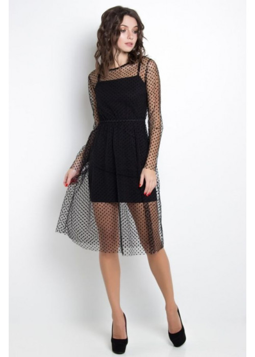 Нежное и воздушное платье-двойка