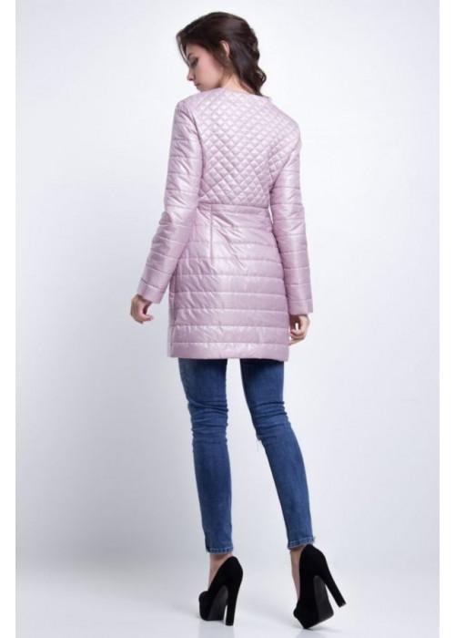 Удлиненная куртка приталенного силуэта из плащевой водоотталкивающей ткани